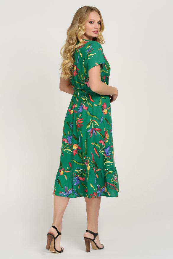 Платье Камыш зеленое