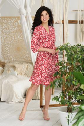 Платье Фифа красное 3656