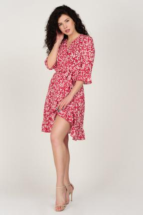 Платье Фифа красное 3657