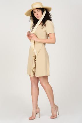 Платье Карамель бежевое 3687
