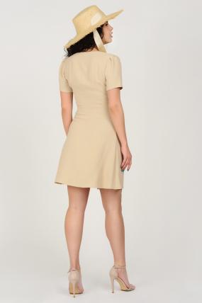 Платье Карамель бежевое 3688