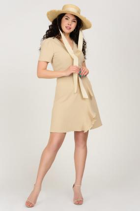 Платье Карамель бежевое 3689