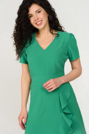 Платье Карамель зеленое 3691