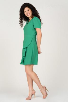 Платье Карамель зеленое 3692