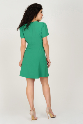 Платье Карамель зеленое 3693
