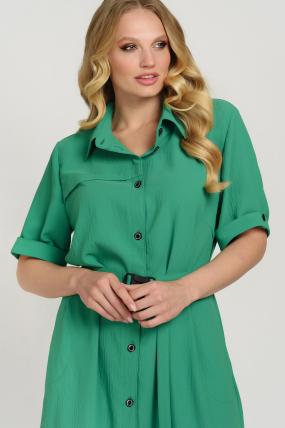 Платье Бизе зеленое 3740