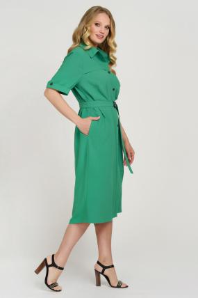 Платье Бизе зеленое 3741