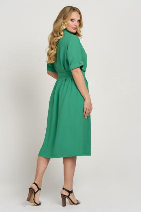 Платье Бизе зеленое 3742