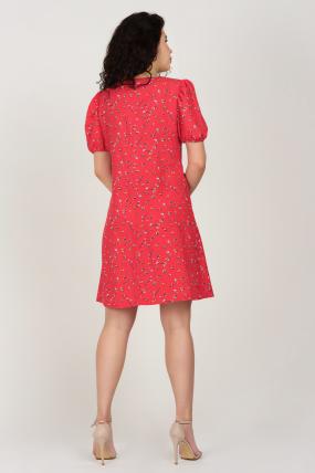 Платье Кокос красное 3746