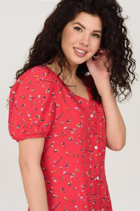Платье Кокос красное 3748