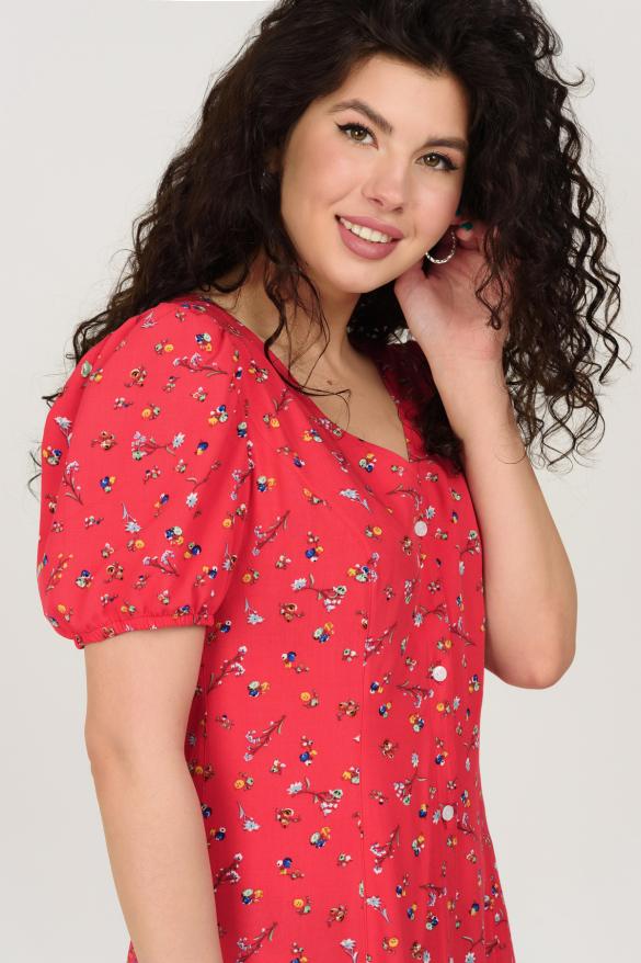 Платье Кокос красное