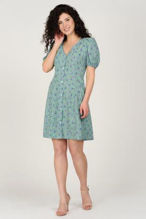 Платье Кокос оливковое 3749