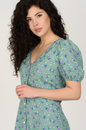 Платье Кокос оливковое 3751