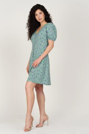 Платье Кокос оливковое 3752