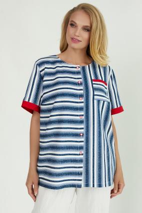 Рубашка Канат синяя