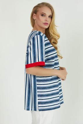 Сорочка Канат синя 3777