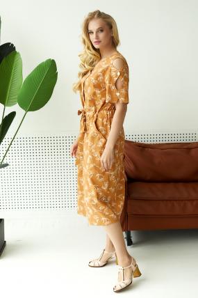 Платье Теона горчица