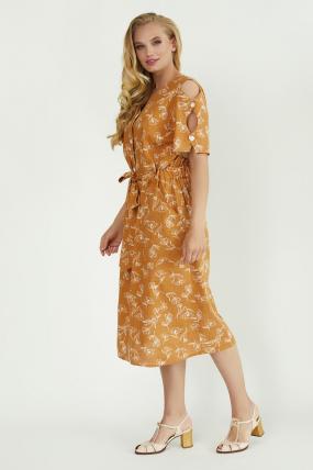 Платье Теона горчица 3784