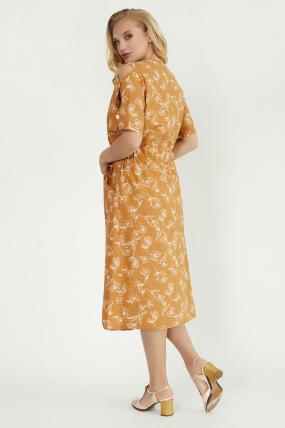 Платье Теона горчица 3785