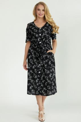 Платье Теона черное 3790
