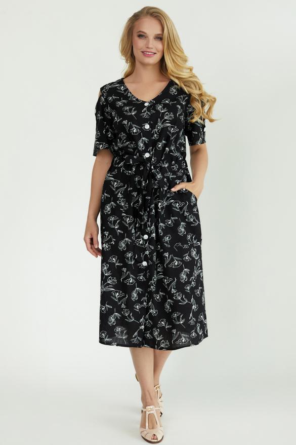Платье Теона черное