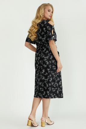 Платье Теона черное 3794