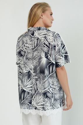 Блуза Одуван темно-синя 3798