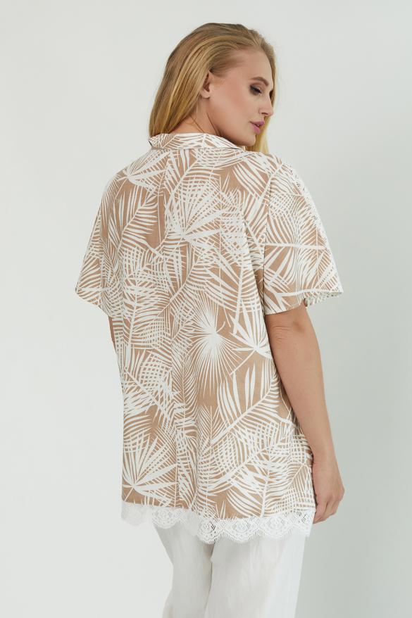 Блуза Одуван бежевая