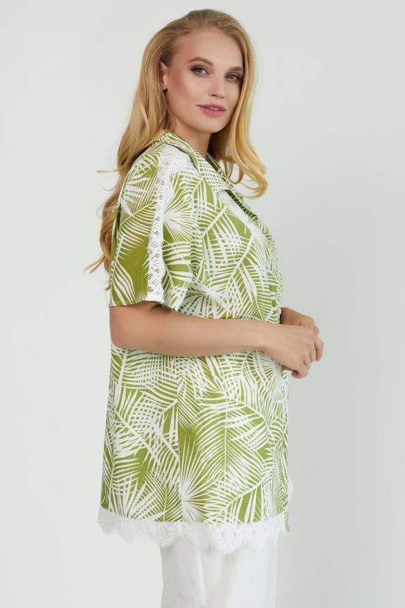 Блуза Одуван оливковая