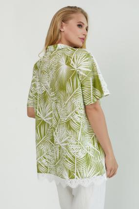 Блуза Одуван оливковая 3804
