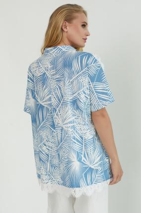 Блуза Одуван голубая 3807
