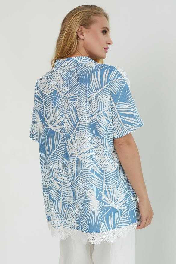 Блуза Одуван голубая
