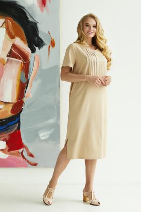 Платье Мэрс бежевое 3818