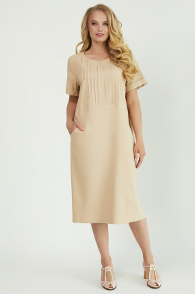 Платье Мэрс бежевое 3819
