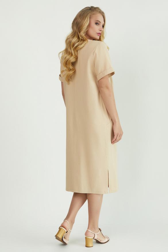 Платье Мэрс бежевое