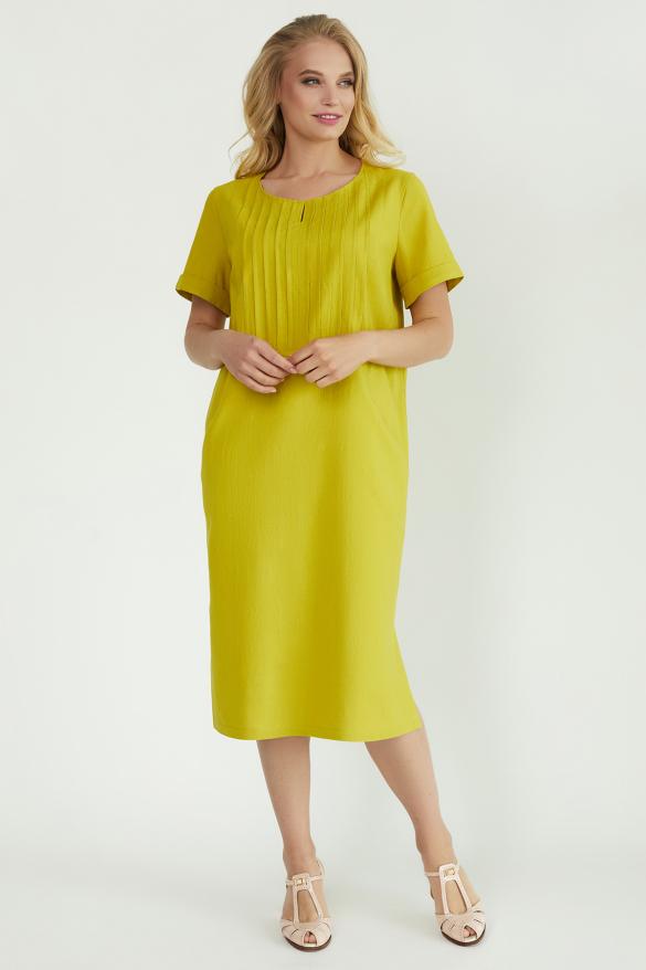 Платье Мэрс горчичное