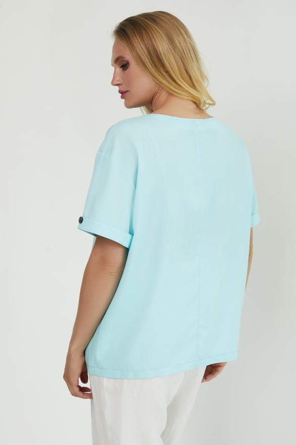 Блуза Верба голубая