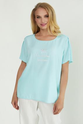 Блуза Бьюти голубая