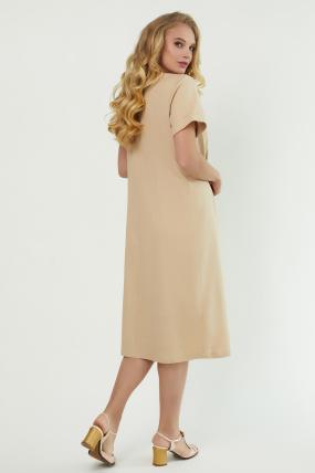 Сукня Тюльпан  бежева 3880