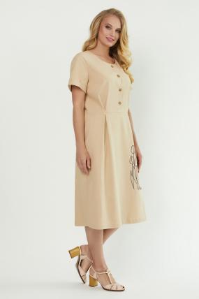 Сукня Тюльпан  бежева 3882