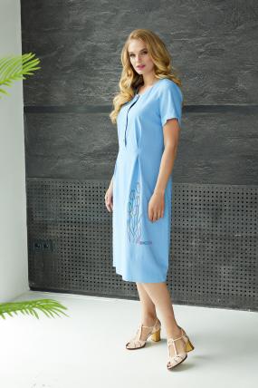 Сукня Тюльпан  блакитна