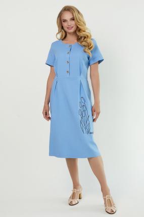 Платье Тюльпан голубое 3884