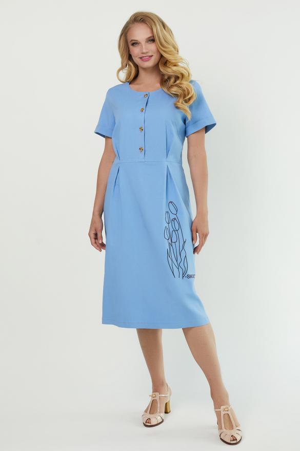 Платье Тюльпан голубое