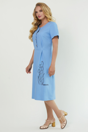 Платье Тюльпан голубое 3885