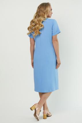 Платье Тюльпан голубое 3886