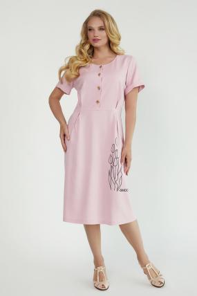 Сукня Тюльпан  рожева 3889