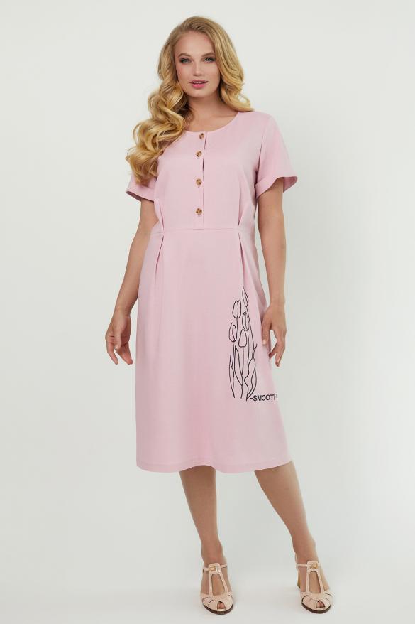 Сукня Тюльпан  рожева