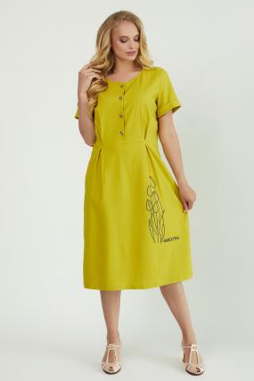 Сукня Тюльпан  гірчиця 3912