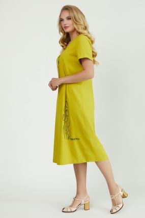 Сукня Тюльпан  гірчиця 3913