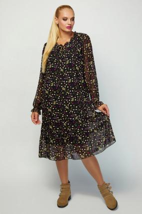Платье Кармен черное